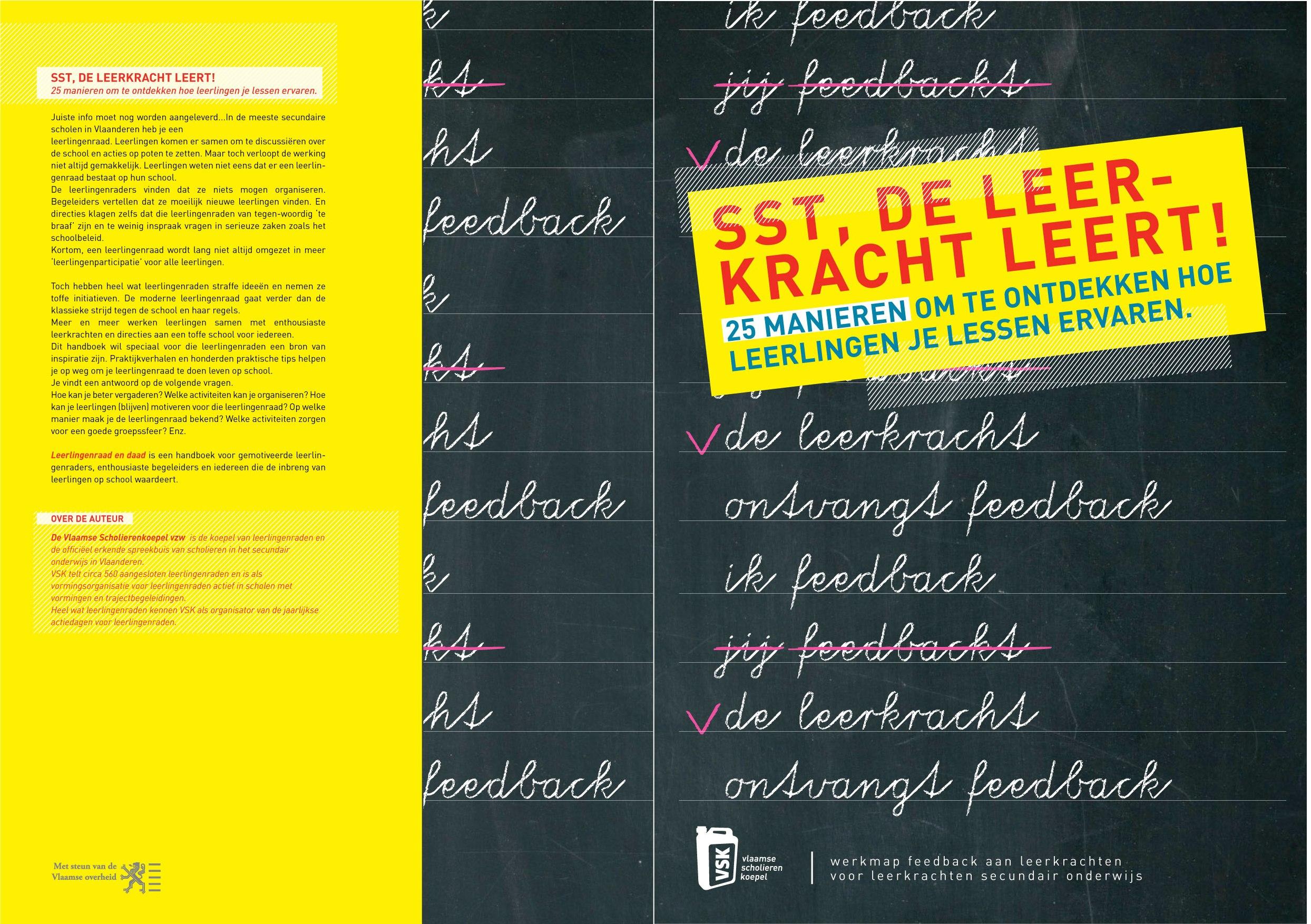 Ongebruikt Werkmap Sst, de leerkracht leert | Vlaamse Scholierenkoepel FY-46